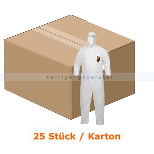 Schutzanzug Kimberly Clark Kleenguard A40, weiß Gr. L