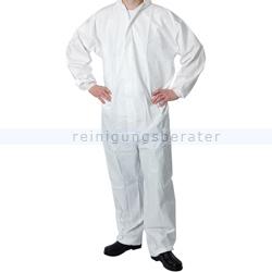 Schutzanzug Thor Einwegoverall Kapuze EN14126 PE weiß XL