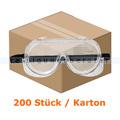 Schutzbrille chemikalienbeständig klar EN 166 200 Stück