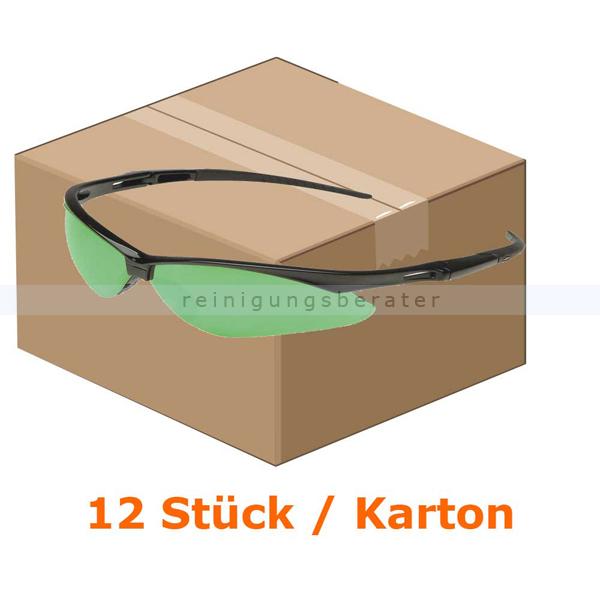 Schutzbrille Kimberly Clark JACKSON SAFETY V30 NEMESIS Grün IR UV 3.0 Schweißerschutzsichtscheiben, beschlagfrei, 1 Box x 12 Brillen 25692
