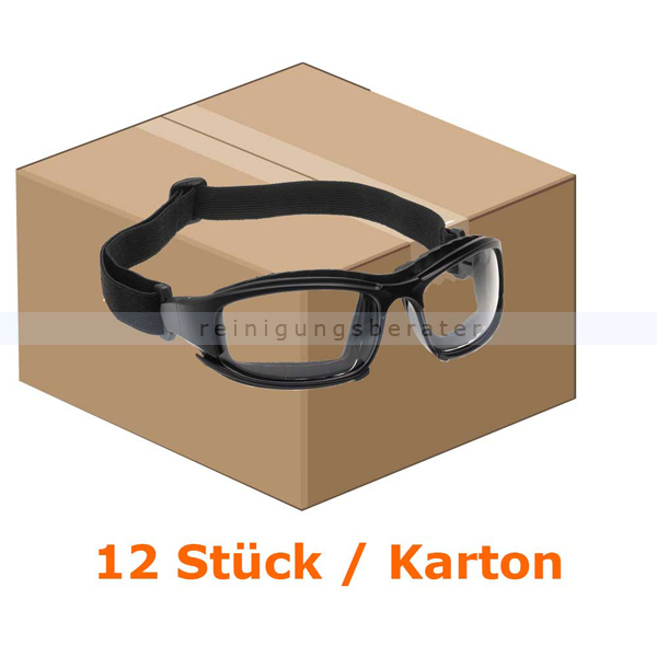 Schutzbrille Kimberly Clark JACKSON SAFETY V50 CALICO Transparent, Beschlagfrei, 1 Box x 12 Brillen 25672