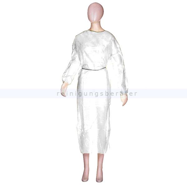 Schutzkittel Ampri, Besuchermantel 140x150 cm weiß