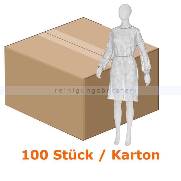 Schutzkittel Ampri Med Comfort weiss zum binden Besucherkittel aus PP, 1100 x 1400 mm 100 Stück/Karton 05500-W