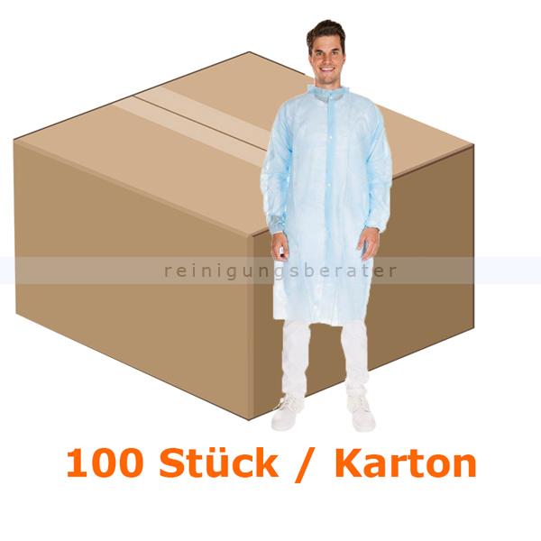 Schutzkittel Hygonorm PP-Vlies blau XL CAT 1, CE PSA VO, lebensmittelecht, 100 Stück/Karton 27406