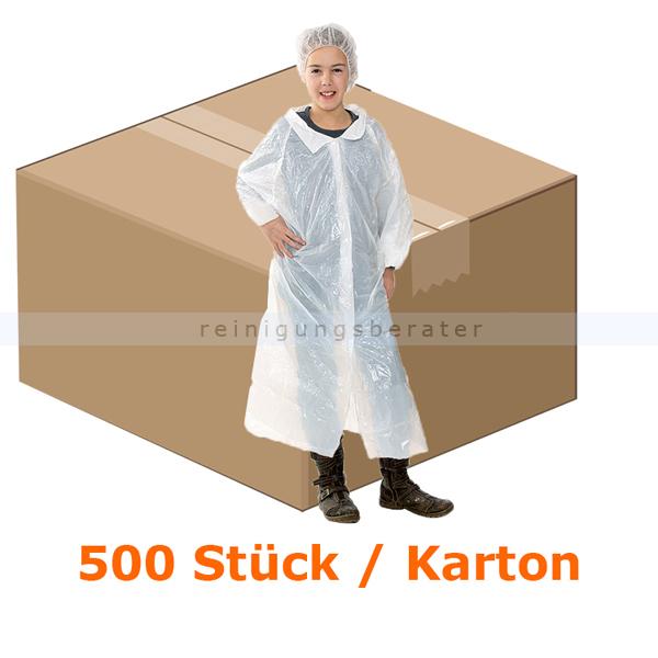 Schutzkittel Hygostar Kittel PE für Kinder weiß 90x120 cm CE PSA VO, lebensmittelecht, CAT 1, 500 Stück/Karton 27325