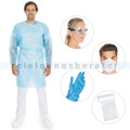 Schutzkittel Hygostar medizinisch CPE blau XL