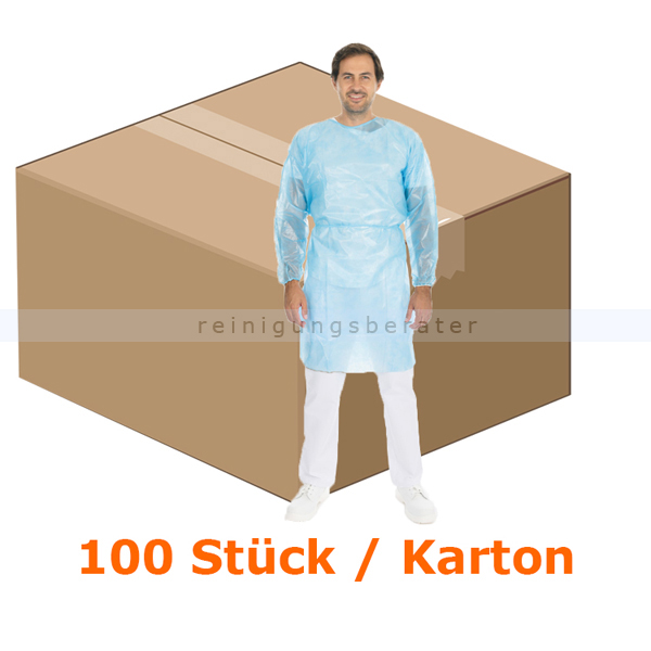 Hygostar Kittel medizinisch laminiert blau XL/XXL 100 Stück CE MPG 93/42/EWG / EN 14126, 100 Stück/Karton B277780