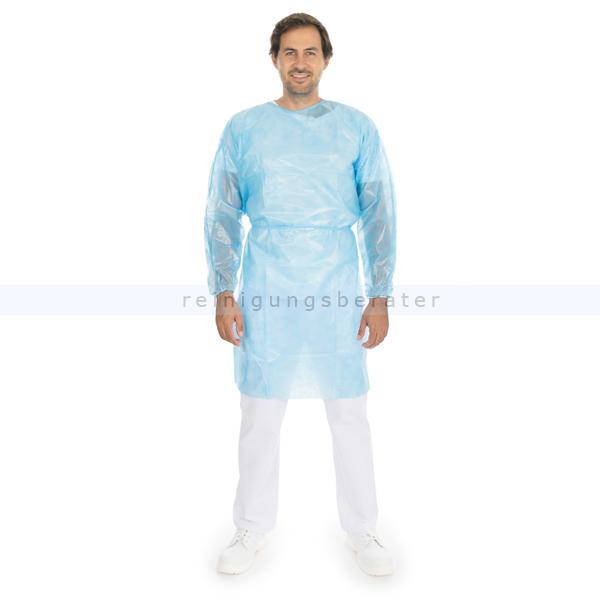 Hygostar Kittel medizinisch laminiert blau XL/XXL 1 Stück CE MPG 93/42/EWG / EN 14126, 1 Stück B277780