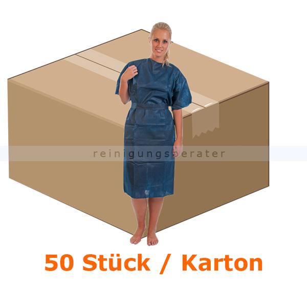 Schutzkittel Hygostar Patientenkittel PP-Vlies blau XL CE MPG 93/42/EWG, starke Qualität, 50 Stück/Karton 27701