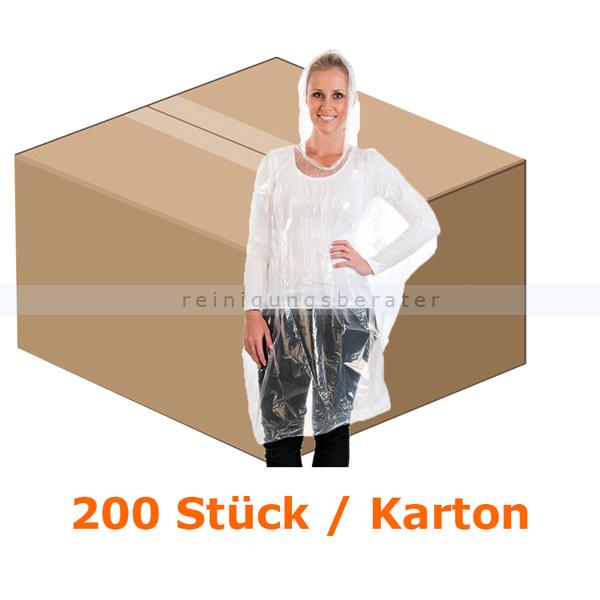 Schutzkittel Hygostar Regenponcho PE transparent 100x240 cm