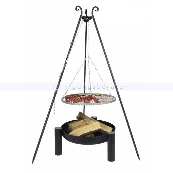 farmcook schwenkgrill mit feuerschale pan38 edelstahl e00721. Black Bedroom Furniture Sets. Home Design Ideas