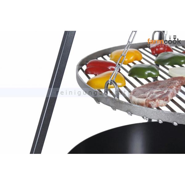 Farmcook Schwenkgrill Viking 180cm mit Grillrost Edelstahl Grill BBQ Grill