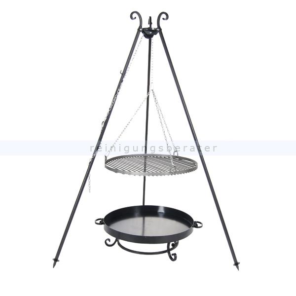 farmcook schwenkgrill mit feuerschale pan32 rohstahl e00702. Black Bedroom Furniture Sets. Home Design Ideas
