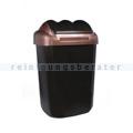 Schwingdeckeleimer Fala aus Kunststoff 15 L, schwarz