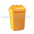 Schwingdeckeleimer Fala aus Kunststoff 30 L, gelb