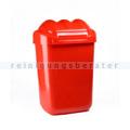 Schwingdeckeleimer Fala aus Kunststoff 50 L, rot