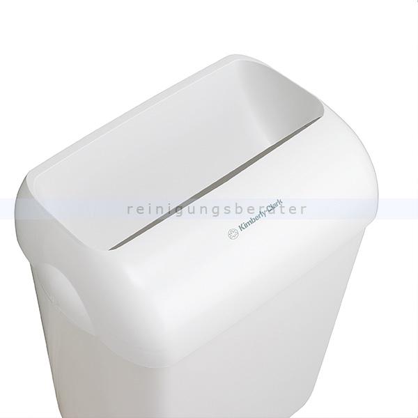 Schwingdeckeleimer Kimberly Clark AQUARIUS 43 L Weiß aus Kunststoff, 2 Stück 6993
