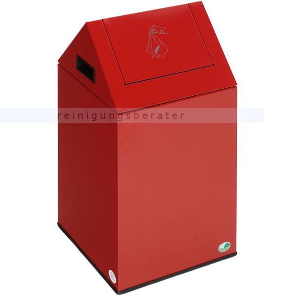 Schwingdeckeleimer VAR PWK 40 S feuerfest rot 40 L mit Pendelklappe, pulverbeschichtet, selbstlöschend 21123