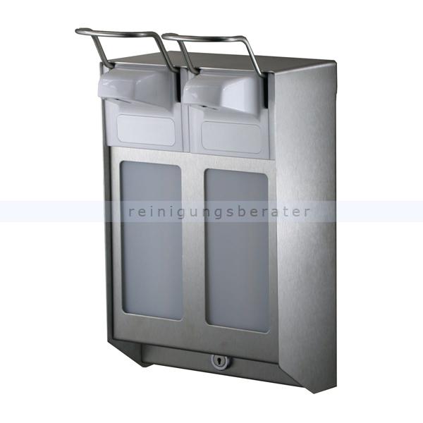 mediqo line seifenspender duo kurzer hebel edelstahl 500 ml. Black Bedroom Furniture Sets. Home Design Ideas