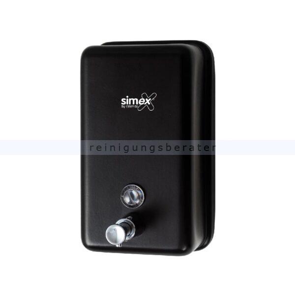 Seifenspender Simex Black Line Inox schwarz vertikal 1,2 L