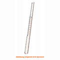 Seilzugleiter Hymer 2x20 Sprossen 2 teilig Strangpressprofil