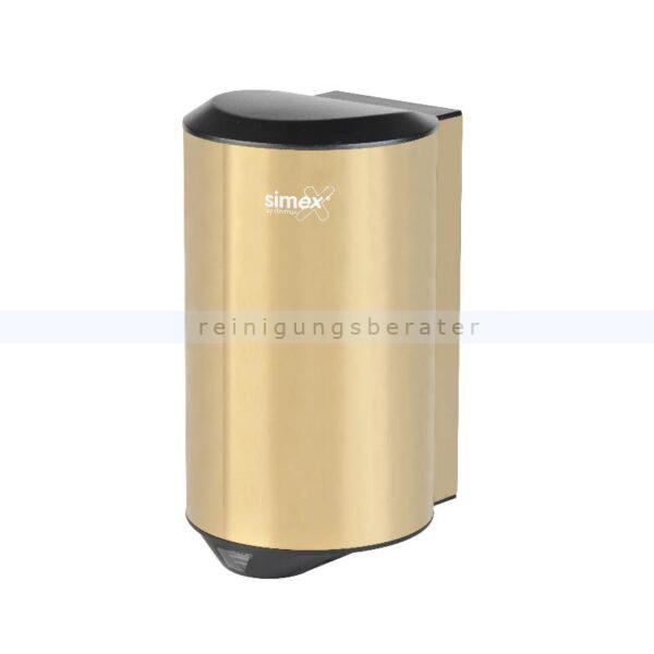 Sensor Händetrockner Simex Quickflow Edelstahl gold 1150 W