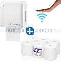 Sensorspender für Papierhandtücher Wepa Professional im SET
