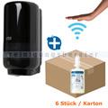 Sensorspender Set Tork S4 Spender schwarz, 6x1L Schaumseife
