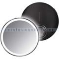 Sensorspiegel Simplehuman 10 cm Kosmetikspiegel schwarz