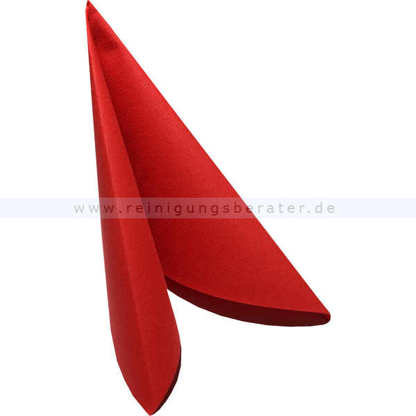 Servietten, AIRLAID Serviette rot 38x38 cm