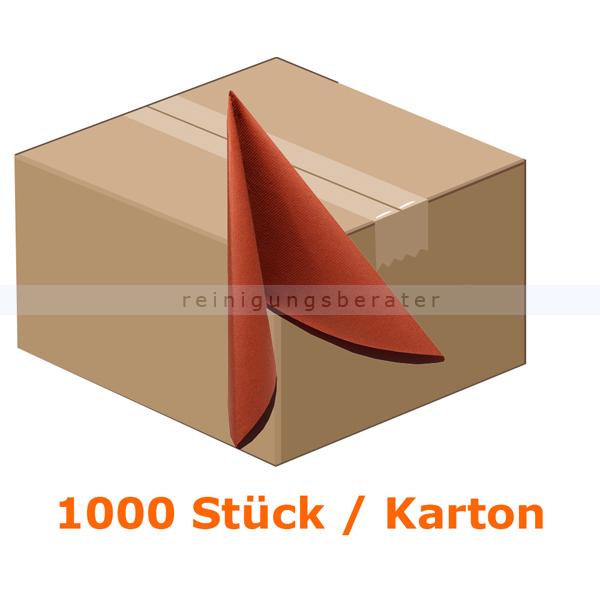 Nordvlies AIRLAID Vliesserviette 38x38 cm terracotta 1000 Stück, 20 Pack je 50 Stück, 1/4 Faltung 41218
