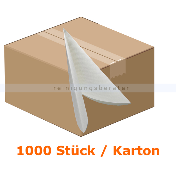 Servietten AIRLAID Vliesserviette 38x38 cm weiß