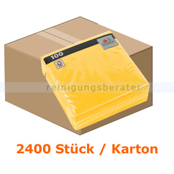 Servietten FASANA Prägeservietten 1-lagig 33x33 cm gelb