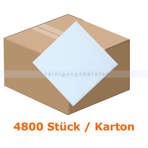 FASANA Präge-Servietten 1-lagig 33x33 cm weiß 4800 Stück, 1-lagig, 1/4 Falzung, 4 Pack je 12x100 Stück 101864
