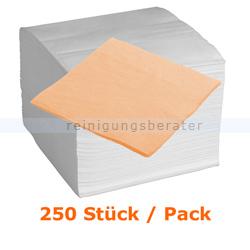 Servietten in der Farbe apricot 40x40 cm, 250 Stück