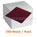 Servietten in der Farbe bordeaux 33x33 cm. 250 Stück