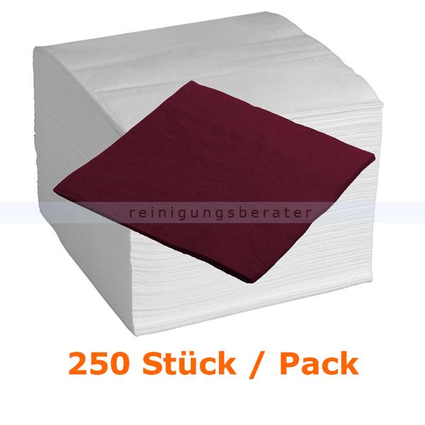 Servietten in der Farbe bordeaux 40x40 cm, 250 Stück
