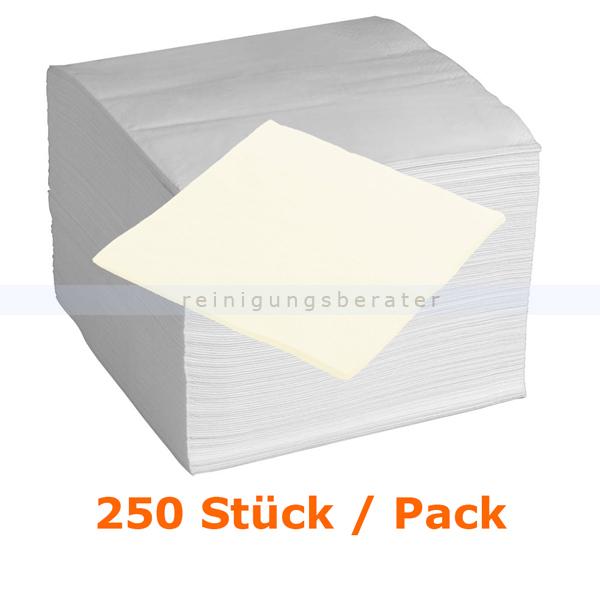 Servietten in der Farbe creme 33x33 cm, 250 Stück