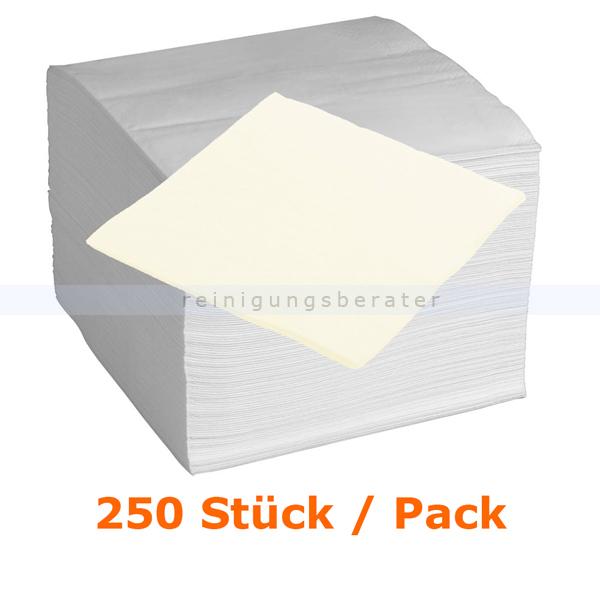 Servietten in der Farbe creme 40x40 cm, 250 Stück