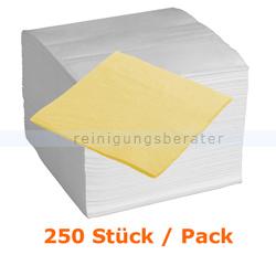 Servietten in der Farbe gelb 33x33 cm, 250 Stück