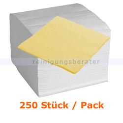 Servietten in der Farbe gelb 40x40 cm, 250 Stück