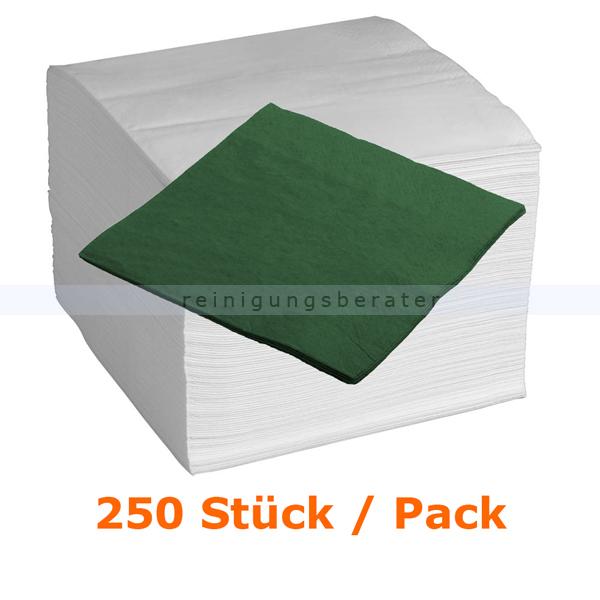 Servietten in der Farbe grün 33x33 cm, 250 Stück