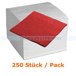 Servietten in der Farbe rot 40x40 cm, 250 Stück
