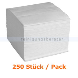 Servietten in der Farbe weiß 40x40 cm, 250 Stück