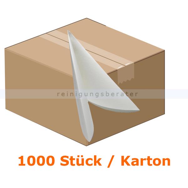 Nordvlies AIRLAID Vliesserviette 38x38 cm weiß 1000 Stück, 20 Pack je 50 Stück, 1/4 Faltung 42008