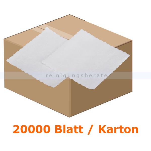ReinigungsBerater Servietten, Piccoloservietten in der Farbe weiß 17x17 cm 10 x 2000 Stück/Paket, 1-lagig AG-172