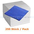 Servietten, Prägeservietten Nordvlies blau 33x33 cm