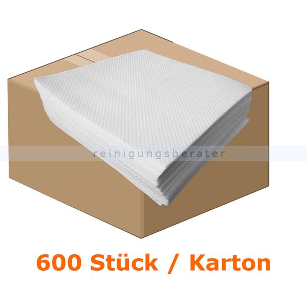 Servietten SUPER CORE Vliesserviette 38x38 cm weiß