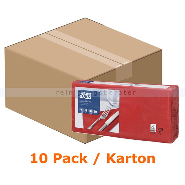 SCA Tork 477210 Soft Lunchservietten 33 x 33 cm magenta 2-lagig, 10 x 200 Stück/Karton