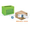 Serviettenspender SET Papernet PREMIUM 14 grün